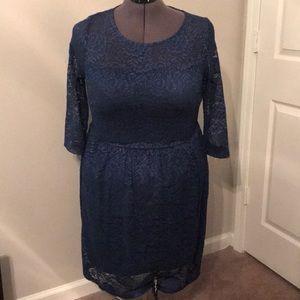 Blue Lace Modcloth Dress